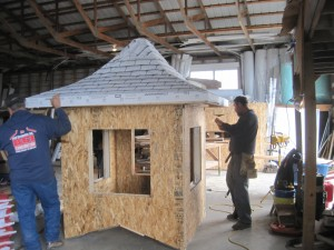 Cupolas being built by Bud Carpenter and his crew.