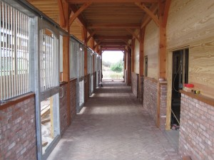 Inside Hinesburg, Vt. Stables
